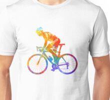 Woman triathlon cycling 01 Unisex T-Shirt