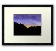 Sunset Hills Framed Print
