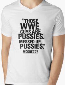 Conor McGregor Pussies Mens V-Neck T-Shirt