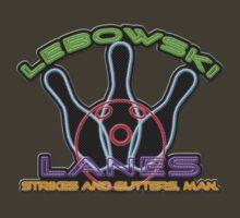 Lebowski Lanes Neon Logo  by VashCrow