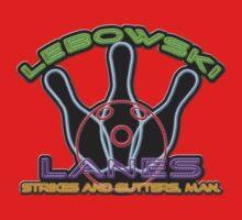 Lebowski Lanes Neon Logo  Baby Tee