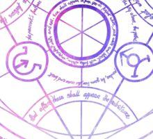 Fullmetal Alchemist Transmutation Circle Galaxy Sticker