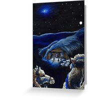 The Stars Were Brightly Shining Greeting Card
