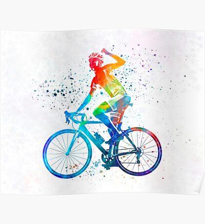 Woman triathlon cycling 03 Poster