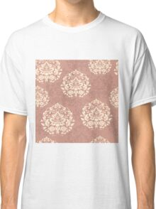 retro seamless floral pattern, vintage background Classic T-Shirt