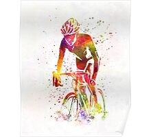Woman triathlon cycling 04 Poster