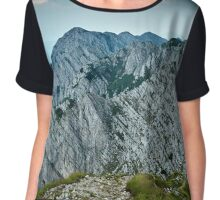 Rocky limestone peak Chiffon Top