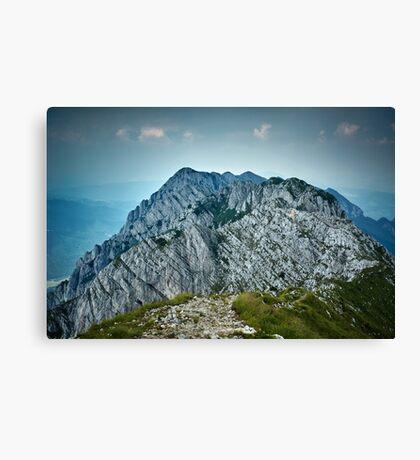 Rocky limestone peak Canvas Print