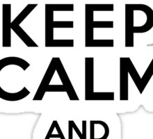 Shark! Keep Calm and Swim Fast Sticker