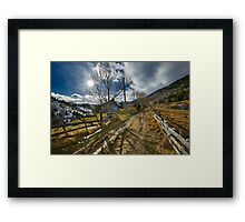 Rural road in the mountains Framed Print