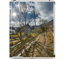 Rural road in the mountains iPad Case/Skin