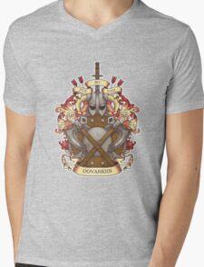 Dovah-crest Mens V-Neck T-Shirt