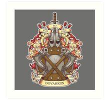 Dovah-crest Art Print