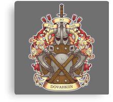 Dovah-crest Canvas Print