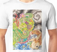 Koi dragon and koi fish Unisex T-Shirt