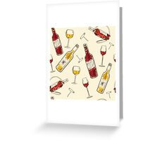 Seamless pattern Drink menu elements Greeting Card