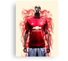 Paul Pogba Red Smoke Manchester United (T-Shirt, Phone Case & More)  Canvas Print