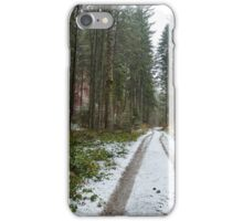 Road through the forest iPhone Case/Skin
