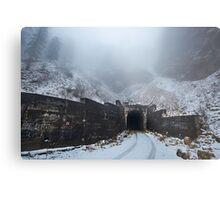 Tunnel through the mountains Metal Print