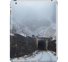 Tunnel through the mountains iPad Case/Skin