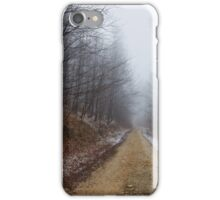 Foggy road in the forest iPhone Case/Skin