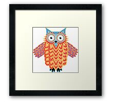 Cute Little Owl Drawing Framed Print