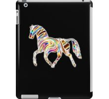 COOL, HORSE, Psychedelic Horse, Horse shape in gradient color, on BLACK iPad Case/Skin