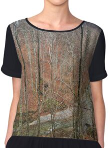 River in the mountains Chiffon Top