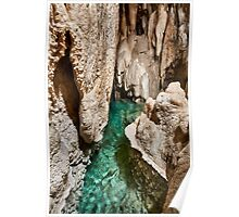 Lake inside of a cave Poster