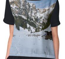 Mountain landscape on wintertime Chiffon Top