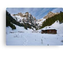 Mountain landscape on wintertime Canvas Print