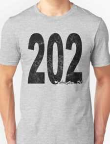 Distressed Washington DC 202 T-Shirt