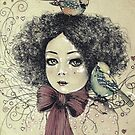 Girl and birds  by Elisabete Nascimento