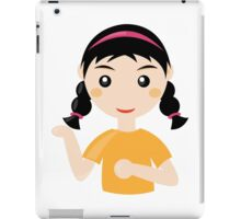 Comic girl person student art iPad Case/Skin