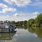 Boats at Radcot Oxfordshire UK by lynn carter