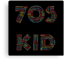 70s Kid Canvas Print