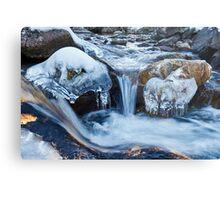 Frozen mountain river Metal Print