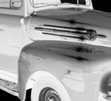 Black And White 1951 Ford F-1 Pickup Truck  Sticker