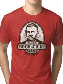 Men's Book & Cigar Club -- Books Optional Tri-blend T-Shirt