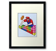 Super Mario Mason Framed Print