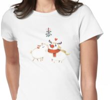 mistletoe and  kisses Variant Womens Fitted T-Shirt