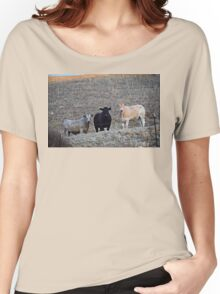 The Three Cows Women's Relaxed Fit T-Shirt