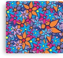 Trendy Floral Pattern Canvas Print