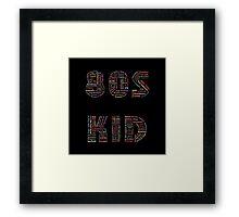 80s Kid Framed Print