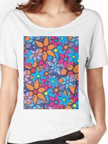 Trendy Floral Pattern Women's Relaxed Fit T-Shirt