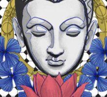 Buddah and flowers Sticker