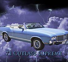 Oldsmobile Cutlass Supreme Muscle Car by KWJphotoart