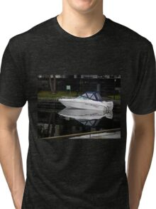 Evening Boat Reflection Tri-blend T-Shirt