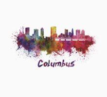 Columbus skyline in watercolor One Piece - Short Sleeve