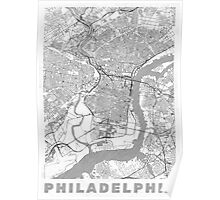 Philadelphia City Map Line Poster